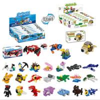 12 коробок в один комплект строительного блока морских животных тропических лесов принцесса замок маленькие пластиковые кирпичи собраны игрушки для детей