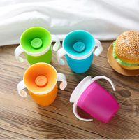 Bebê que aprende Beber Cup Silicone instrutor Cup infantil Leak Proof Copo Drinking Garrafa de água Crianças Sippy Cups Coffee Cole Tumbler EZYQ128