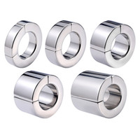 5 Sizes Magnetic Cock Ring Stainless Steel Scrotum Pendant L...