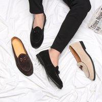 Diseñador del Arco-nudo Hombre Holgazanes boda de los hombres zapatos de vestir hebilla de la manera zapatos de punta estrecha informal Lazy Slip-On Conducción del hombre