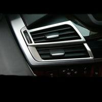 Araba-Styling İç Dashboard Yan Hava Çıkış Çerçeve Klima Havalandırma Kapak Trim 3D Çıkartmalar BMW X5 X6 E70 E71 F15 F16 için
