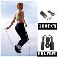 DHLフリー100ピースベアリングスキップロープコードスピードフィットネス軽量ジム運動器具調整可能なボクシングスポーツジャンプロープFY6160
