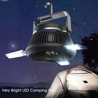 Портативный светодиодный фонарь Кемпинг с Потолочный вентилятор - Solar Power USB аккумуляторная Палатка Свет Вентилятор для наружного кемпинга Туризм