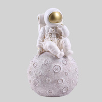 Uzay Adam Heykel Astronot Moda Vazo Roket Uçak Süs Modeli Seramik Malzeme Kozmonot Heykeli Mekik Masası Dekor