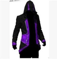 패션 - 고품질 핫 세일 디자이너 후드 어쌔신 크리드 3 III 코너 Kenway nhl 후드 코트 자켓 코스프레 의상 후드 남성