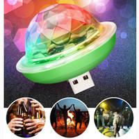 Neue Mini-Partei-Beleuchtung USB-Mini-LED-Disco-Kugel-Klangsteuerung DJ-Bühnenlicht Bunte Strobe RGB Lamp Festival Party Club Karaoke Dekorationen