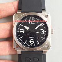 6 Stil Lüks En Kaliteli 42mm Havacılık BR 03-92 Miras Seramik Safir İsviçre CAL.9015 Hareketi Otomatik Mens Watch erkek Saatler