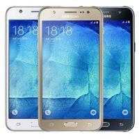 Original Redurbado Samsung Galaxy J5 J500F Dual SIM Pantalla LCD de 5.0 pulgadas Cuadro Quad Core 1.5GB RAM 16GB ROM 13MP 4G LTE Teléfono desbloqueado DHL 10PCS