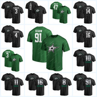 10 Corey Perry 16 Joe Pavelski Dallas Stars Trikot 14 Jamie Benn 91 Tyler Seguin 30 Ben Bishop 8 Pavelsk Green Stitched Hockey T-Shirts