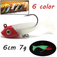 6pcs lot 6cm 7g 3D Eyes Soft Fishing Lures 6 Colors Mixed PV...