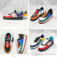 Forças Low 1 07 What The LA NYC Uma 1s Womens Skateboarding Mens costura Graffiti Shoes Designer forçado Sports Trainers Plataforma Sneakers