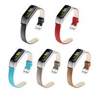 Кожаная лента для Samsung Galaxy Fit-e R375 Смотреть ремешок для часов ремешок для часов ремешок замена браслетов браслет 93006