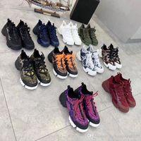 클래식 레이디 플랫 캐주얼 신발 가죽 플랫폼 운동화 편지 레이스 업 워킹 여성 신발 패션 새로운 인쇄 레저 신발 크기 35-41-42