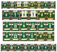 Maglia vintage Minnesota North Stars 19 BILL MASTERTON 30 cesare maniago 8 BILL GOLDSWORTHY 11 JP PARISE LOU NANNE Neal Broten Retro Hockey