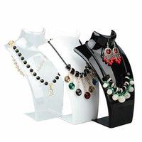 I nuovi monili acrilico moda Display 21 * 14 * 7.5CM modello collane del pendente supporto del basamento White Clear Colore Nero