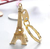 برج ايفل سلسلة المفاتيح ختمها باريس فرنسا الذهب الشظية برونزية حلقة رئيسية هدايا عيد الميلاد لصالح أزياء الجدة هدية أداة LXL920Q