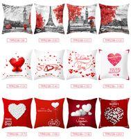 Valentine Pillowcases Arbre d'amour de la série Peach peau Taie d'oreiller Joyeuse Saint-Valentin Taie Canapé Coussin Case