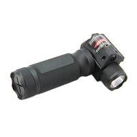 통합 레드 레이저와 전술 빠른 분리 포어 그립 크리 LED 손전등 사냥 총 라이트