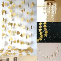 Star- shaped Paper Garlands Colorful Bunting Home Wedding Par...