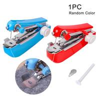 Tragbare Mini-Handbuch Nähmaschine Einfache Bedienung Nähen Werkzeuge Tuch-Gewebe Handy-Handwerkzeug für den täglichen Gebrauch Startseite