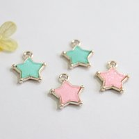20 * 23MM 30Pcs / Pack Star Shape KC Gold Charms Alloy Beads Joyas colgantes