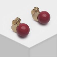 Stud Amorita Boutique Carino Piccoli orecchini a sfera rotonda a colori