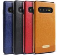 Lüks Mikki Deri Hibrid İş Yumuşak TPU Kılıf Iphone 11 Pro XR XS MAX Galaxy S10 Artı S10e Not 10 9 M10 M20 Darbeye Zırh Kapak İçin