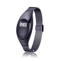 Z18 Bracelet intelligent Sang Sang oxygène Moniteur de fréquence cardiaque Tracker intelligent montre étanche Bluetooth pour iOS iPhone Wristwatch Android
