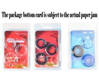 Avec nouvelle emballage souple en silicone Cock Ring Érection Prolong agrandisseur de pénis Orgasm Enhancer pénis Anneaux Sextoys pour adultes