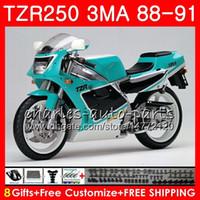 본체 YAMAHA TZR250 3MA TZR-250 1988 1989 1990 1991 재고 청록색 118HM.53 TZR250 RS RR YPVS TZR250RR TZR 250 88 89 90 91 페어링 키트