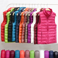 Winter Ultra Light Down Vest Women Sleeveless Jacket Autumn ...