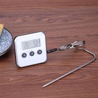 Sonda Barbekü Termometre Mutfak Sıcaklık Araçlar Pişirme ile 2020 Elektronik Termometre Zamanlayıcı Gıda Et Sıcaklık Ölçer Ölçer