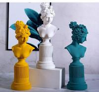 Venus Kopf Portraits Büste Göttin der Schönheit Bnd Liebe Statue römische Mythologie Harz-Kunst-Craft Continental Home Decoration
