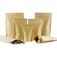 Borse a prova di umidità del cibo Packaging Sigillatura della custodia della sigillatura del sacchetto di carta kraft con lamina di alluminio all'interno dei sacchi per il cibo Spuntino da tè