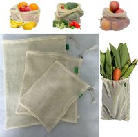 3pcs Set Reusable Cotton Mesh Grocery Shopping Produce Bags ...