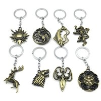 Game of Thrones Keychains House Stark Wolf Pendants Key Chai...