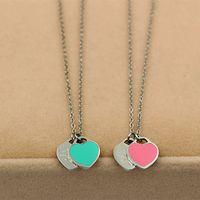 18 карат золото титан персик сердце ожерелье кулон из нержавеющей стали сердце любовь образное ожерелье короткие женские украшения