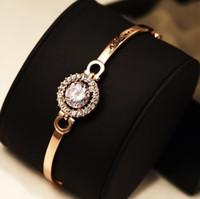 versão coreana do ultra-luxo requintado pulseira de zircão requintado temperamento selvagem ocasional feminino pulseira banhado a ouro 18k jóias dom brac