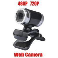 Nueva cámara web de Webcam HD 360 grados Video digital USB 480P 720p PC Webcam con micrófono para computadora portátil Computadora de escritorio Accesorio