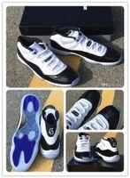 11 concord 45 basketbol ayakkabıları Gerçek karbon fiber Spor Sneakers 11'LER XI Platin Ton Gym Kırmızı Balo Gecesi Space Jam Üst Kalite Atletik Bred