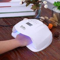 Sun x 54w сушилка для ногтей двойной ультрафиолетовый светильник лампы лампы лампа лампочка для лампы LCD дисплей ногтей