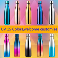UV color 17oz 500ml Cola Shaped Bottle Insulated Double Wall...