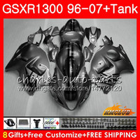 Corps pour SUZUKI Hayabusa GSXR 1300 gris brillant GSXR1300 96 97 98 99 00 01 07 24HC.98 GSX R1300 1996 1997 1998 1999 2000 2001 2007 Carénage