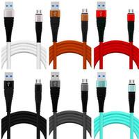 Tipo de cabo de velocidade rápida C Micro USB Cabo de alumínio Liga de alumínio Nylon Data Cabos para Samsung Galaxy S7 S8 S9 Nota 8 HTC