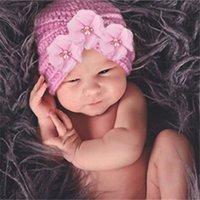 Accesorios de fotografía para recién nacidos Accesorios Sombrero para bebé recién nacido Turbante Niños Sombreros para niños Niña pequeña Bonnet Beanie
