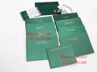 أوراق تصحيح الأصلي الأحدث الأعلى الأخضر هدية حقيبة للرولكس صناديق كتيبات الساعات مخصص الحرة طباعة نموذج بطاقة الرقم التسلسلي