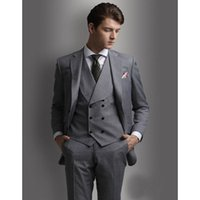 Custom- made Two Buttons Groomsmen Notch Lapel Groom Tuxedos ...
