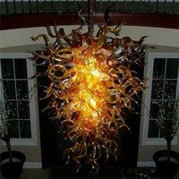 2020 현대 디자이너 LED 행잉 펜던트 램프 치 후리 스타일 손은 중국에 유리 정학 샹들리에 제작을 불어