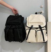 Backpack Man Travel Bag Large Capacity Plain Student Backpacks Nylon Waterproof Multiple Pockets