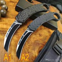 최저 자동 BM Karambit 새 발톱 칼 D2 블레이드 알루미늄 핸들을 두 번 야외 콜드 스틸 캠핑 AUTO 칼 C07 BM42 BM940